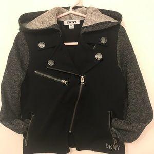 DKNY Little Girls Ponte Hooded Jacket New Size 4T